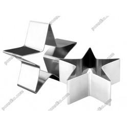 Кільце гарнірне Форма для формовки та випічки зірка 100 мм, h-45 мм (Ibili)