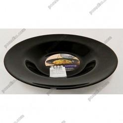 Friends time Тарілка кругла у формі капелюха чорна d-285 мм, h-44 мм 1,1 л (Luminarc, France)