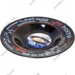 Friends time Тарілка кругла у формі капелюха Salon чорна d-285 мм, h-44 мм 1,1 л (Luminarc, France)