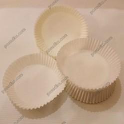 Тарталетка Форма паперова для випічки кругла біла d-70 мм, h-27,5 мм (Україна)