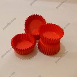 Тарталетка Форма паперова для випічки кругла червона d-30 мм, h-16 мм (Україна)