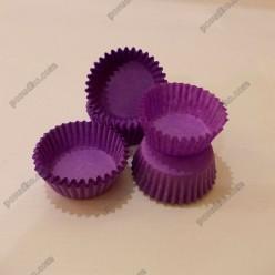 Тарталетка Форма паперова для випічки кругла фіолетова d-30 мм, h-16 мм (Україна)
