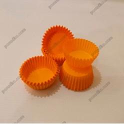 Тарталетка Форма паперова для випічки кругла помаранчева d-30 мм, h-16 мм (Україна)