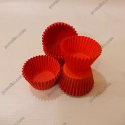 Тарталетка Форма паперова для випічки кругла червона d-30 мм, h-24 мм (Україна)