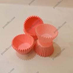 Тарталетка Форма паперова для випічки кругла рожева d-30 мм, h-24 мм (Україна)