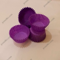 Тарталетка Форма паперова для випічки кругла фіолетова d-35 мм, h-20 мм (Україна)