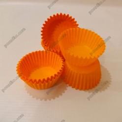 Тарталетка Форма паперова для випічки кругла помаранчева d-35 мм, h-20 мм (Україна)