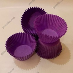 Тарталетка Форма паперова для випічки кругла фіолетова d-45 мм, h-35 мм (Україна)