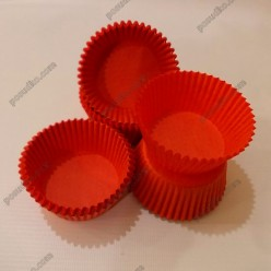 Тарталетка Форма паперова для випічки кругла червона d-50 мм, h-30 мм (Україна)