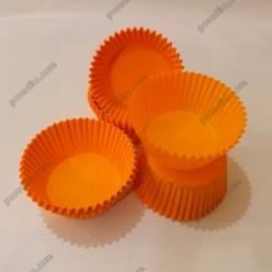 Тарталетка Форма паперова для випічки кругла помаранчева d-50 мм, h-30 мм (Україна)