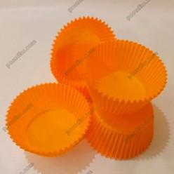 Тарталетка Форма паперова для випічки кругла помаранчева d-55 мм, h-35 мм (Україна)