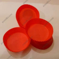 Тарталетка Форма паперова для випічки кругла червона d-70 мм, h-22 мм (Україна)
