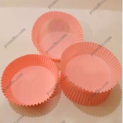 Тарталетка Форма паперова для випічки кругла рожева d-70 мм, h-22 мм (Україна)
