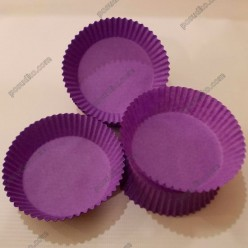 Тарталетка Форма паперова для випічки кругла фіолетова d-70 мм, h-22 мм (Україна)