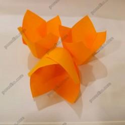 Тарталетка Форма паперова для випічки тюльпан помаранчева d-50 мм, h-60, 80 мм (Україна)