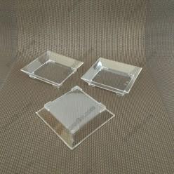 Appetizers Піала фуршетна квадратна низька прозора 60 х60 мм, h-13 мм 60 мл (Україна)