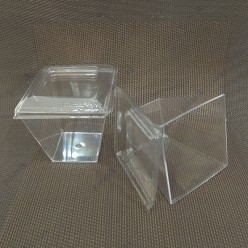 Appetizers Піала фуршетна піраміда з кришкою прозора 67 х67 мм, h-65, с кр. 73х73, h-75 мм 200 мл (Україна)