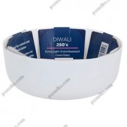 Diwali Форма для запікання та випічки кругла біла d-180 мм, h-65 мм 1,2 л (Luminarc, France)