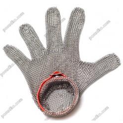 Захистна Перчатка кольчужна червона розмір M (FoREST)