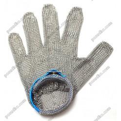 Захистна Перчатка кольчужна синя розмір L (FoREST)
