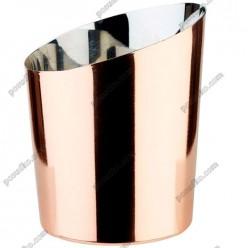 Snack holder Ємність для подачі скошена мідна d-95 мм, h-85/115 мм 350 мл (APS)