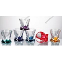 Quadro Склянка низька мікс кольорів 92х92 мм, h-98 мм 340 мл (Bohemia)