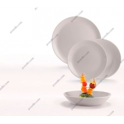 Diwali Тарілка кругла глибока миска сіра d-200 мм, h-43 мм 700 мл (Luminarc, France)