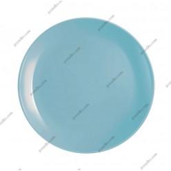 Diwali Тарілка кругла без поля мілка блакитна d-190 мм (Luminarc, France)