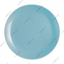 Diwali Тарілка кругла без поля мілка блакитна d-250 мм (Luminarc, France)