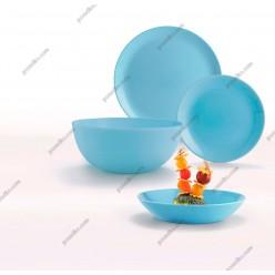 Diwali Тарілка кругла глибока миска блакитна d-200 мм, h-43 мм 700 мл (Luminarc, France)