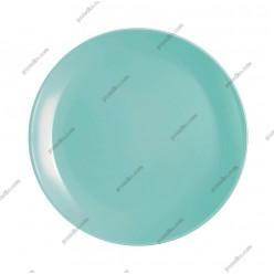 Diwali Тарілка кругла без поля мілка салатова d-250 мм (Luminarc, France)