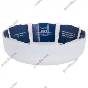 Diwali Форма для запікання та випічки кругла біла d-260 мм, h-70 мм 2,5 л (Luminarc, France)