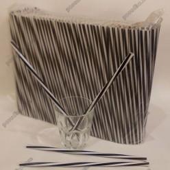 Фреш Трубочки прямі спіраль чорні з білим d-8 мм, L-250 мм (Пласт)