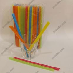 Фреш Трубочки прямі для смузі мікс кольорів d-10 мм, L-190 мм (Пласт)