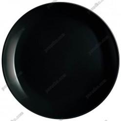Diwali Тарілка кругла без поля мілка чорна d-275 мм (Luminarc, France)