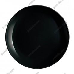 Diwali Тарілка кругла без поля мілка чорна d-250 мм (Luminarc, France)