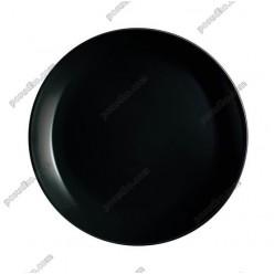 Diwali Тарілка кругла без поля мілка чорна d-190 мм (Luminarc, France)