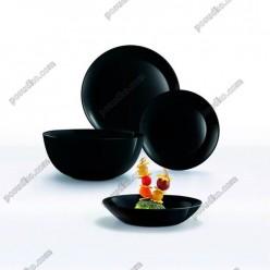 Diwali Тарілка кругла глибока миска чорна d-200 мм, h-43 мм 700 мл (Luminarc, France)
