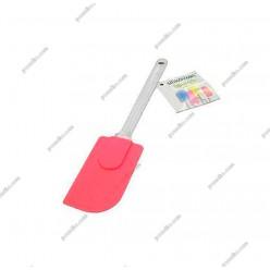Кондитеру Лопатка силіконова шпатель рожева L-260 мм (Silikomart)