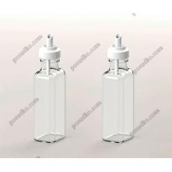 Accessories Пляшка для олії, оцту квадратна з гейзером біла кришка 100 мл (EverGlass)