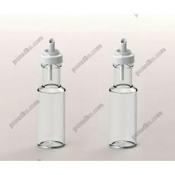 Accessories Пляшка для олії, оцту з гейзером біла кришка 100 мл (EverGlass)