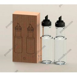 Accessories Пляшка для олії, оцту з гейзером чорна кришка 100 мл (EverGlass)