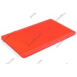 Resto line 20 Дошка розробна з жолобом червона 500 х400х20 мм (FoREST)