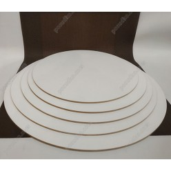 Підложка Підкладка під торт жорстка біла d-220 мм, h-3 мм (Поділля)