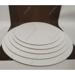 Підложка Підкладка під торт жорстка біла d-260 мм, h-3 мм (Поділля)