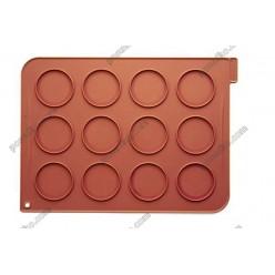 Професійний силікон Лист для випічки макаронс теракотовий темний 400 х300 мм (Silikomart)