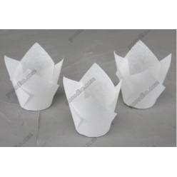 Тарталетка Форма паперова для випічки тюльпан біла d-50 мм, h-60, 80 мм (Україна)