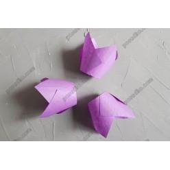 Тарталетка Форма паперова для випічки тюльпан фіолетовий візерунок d-50 мм, h-60, 85 мм (Україна)