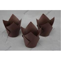 Тарталетка Форма паперова для випічки тюльпан коричнева d-50 мм, h-70, 95 мм (Україна)