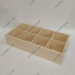 Tea time Ящик для пакетованого чаю 8 відділень 320 х150 мм, h-65 мм (Поділля)